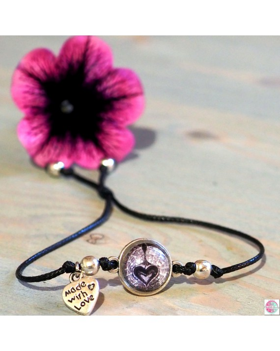 "Bracelet with mandala Angel Guardian of Emotions"". black."