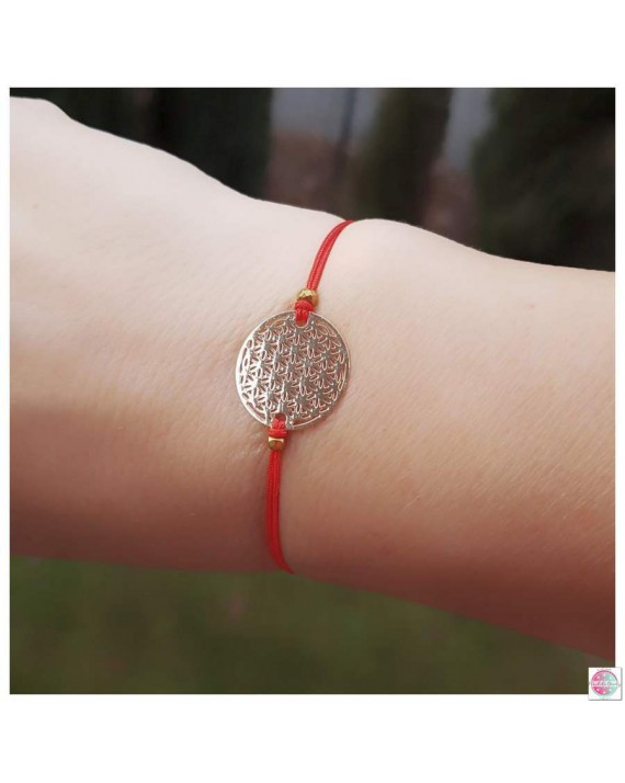"Bracelet with ""Flower of Life"" gold."