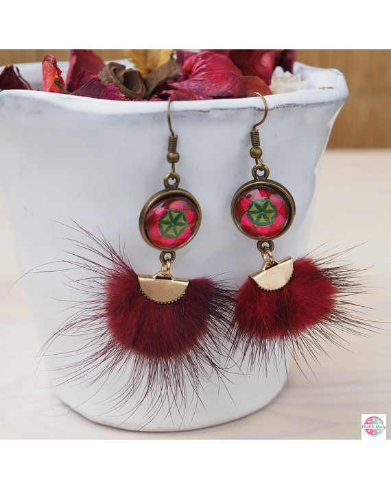 "Earrings with mandala ""Seed of Life""."