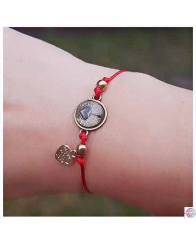 "Bracelet with mandala ""Angel Guardian of emotions"" red."