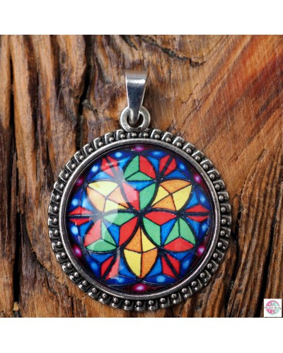 "Pendant with mandala ""Kaleidoscope""."