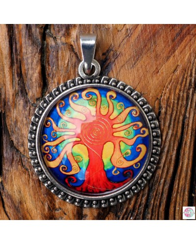 "Pendant with mandala ""The Tree of Joy""."