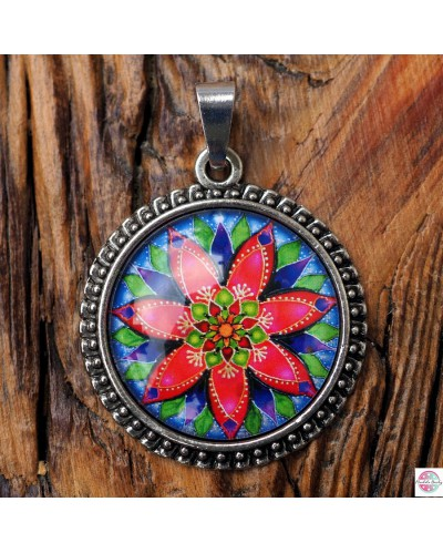 Pendant with a mandala of Delight.