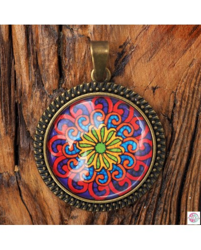 "Pendant with mandala ""Wave-Fractals""."