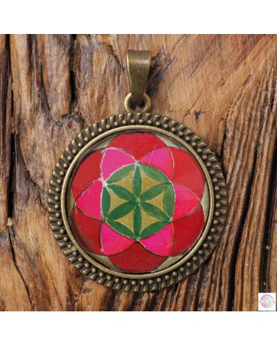 "Medallion with the ""Grain of Life"" mandala."