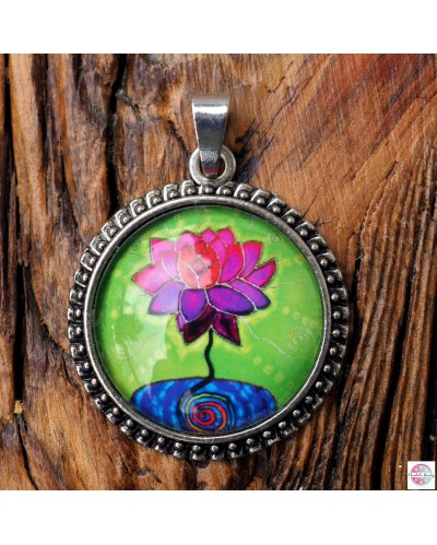 "Pendant with mandala ""Hurt blossomed""."