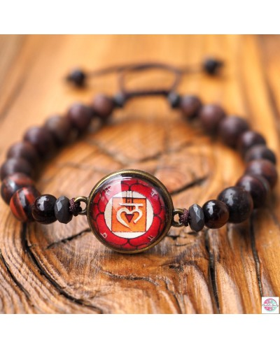 "Bracelet with mandala ""First Chakra Muladhara""."