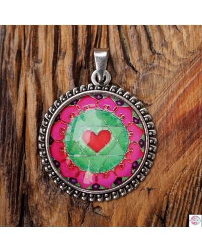"Pendant with mandala ""Heart Chakra""."