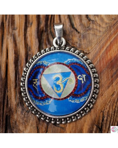 "Pendant with mandala ""Third Eye Chakra""."