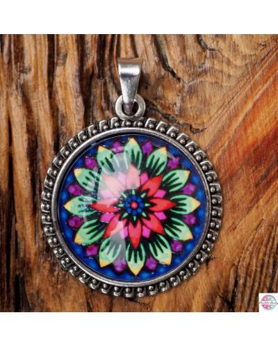 "Pendant with mandala ""Flower of Hope""."