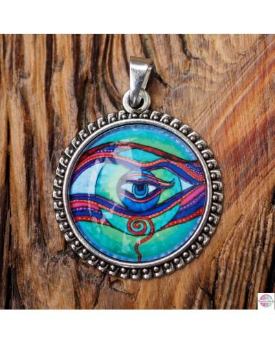 "Pendant with mandala ""The Eye of Self"""