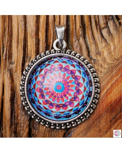 "Pendant with mandala ""Crown Chakra Sahasrara""."
