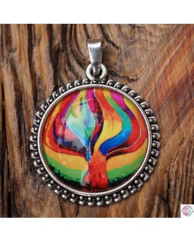 "Pendant with mandala ""Tree of Change""."
