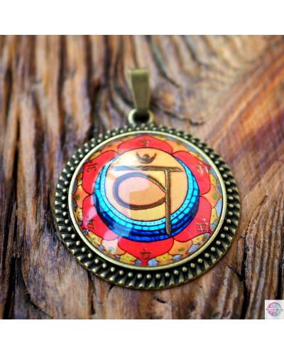 "Pendant with mandala ""Second Chakra Swadhisthana"""