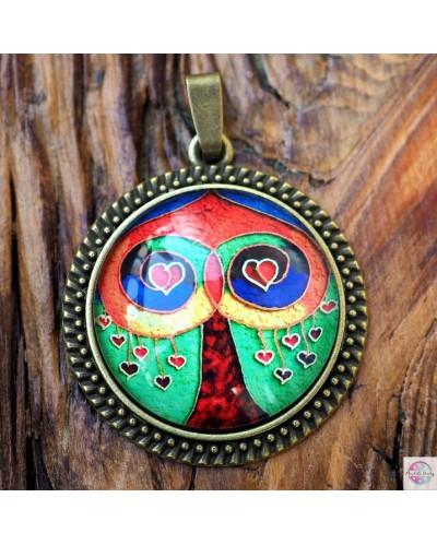 "Pendant with mandala ""Tree of Love""."