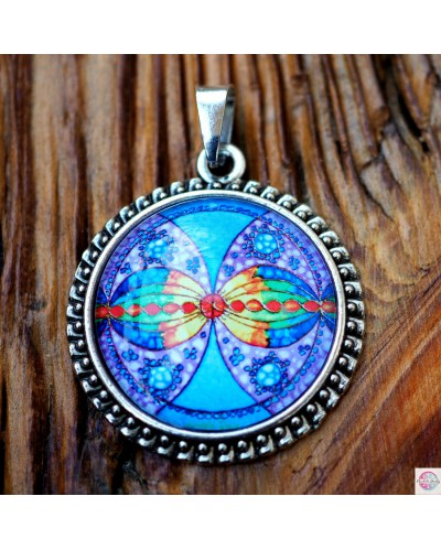 "Pendant with mandala ""Connection in fininity""."