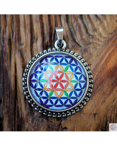 "Pendant with mandala ""Flower of Life""."