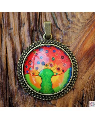 "Pendant with mandala ""Sun Tree - wealth""."