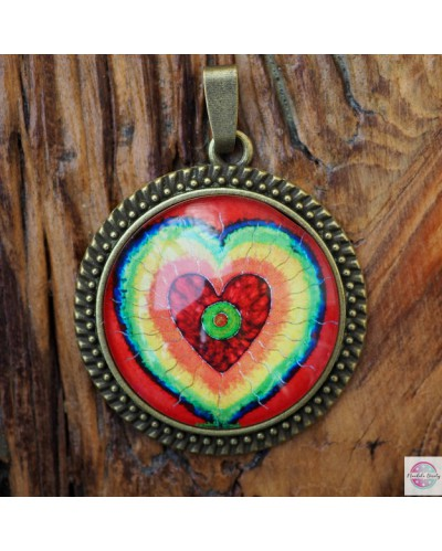"Pendant with mandala ""Heart Space""."