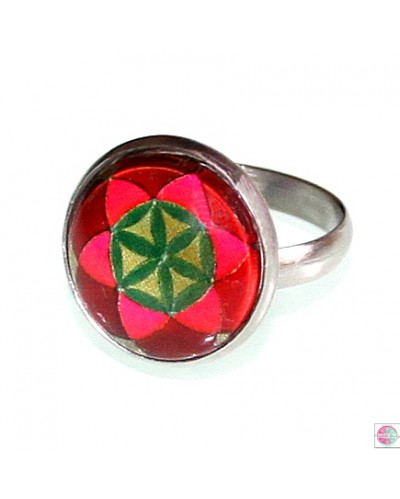 "Ring with mandala ""Seed of Life""."