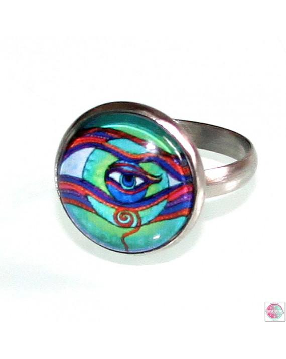 "Ring with mandala ""Eye of the Self""."