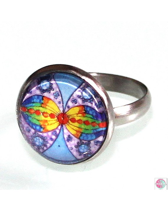 """Ring with mandala """"Connection in Infinity""""."""
