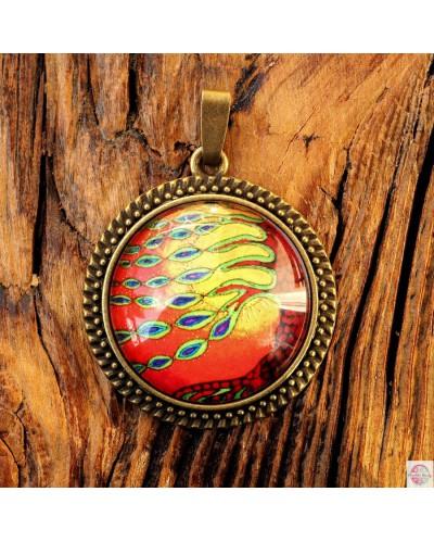 "Pendant with mandala ""Tree of Purification""."