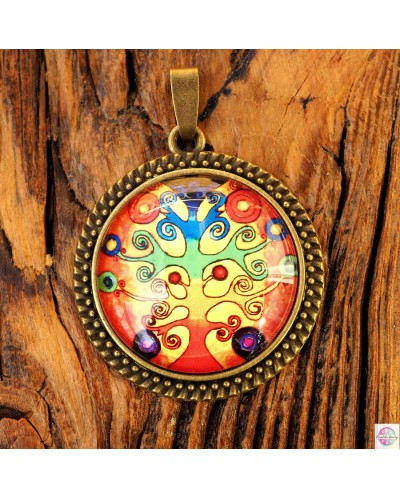 "Pendant with mandala ""Tree Flow of Live""."