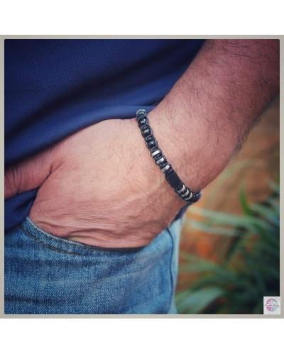 "Tourmaline ""Protection and Balance"" bracelet."