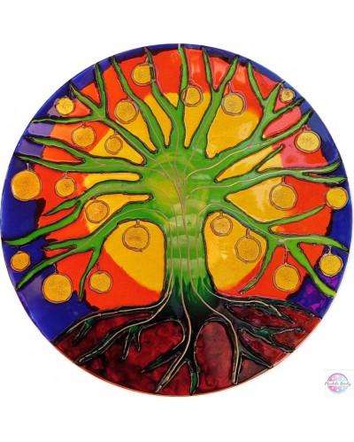 "Mandala on glass ""Tree of Lihgt"""