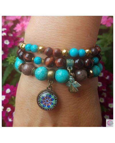 "Set of bracelets with the ""Radiant Lotus"" mandala."
