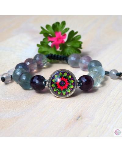 "Bracelet with mandala ""Flower of Hope"" amethyst."