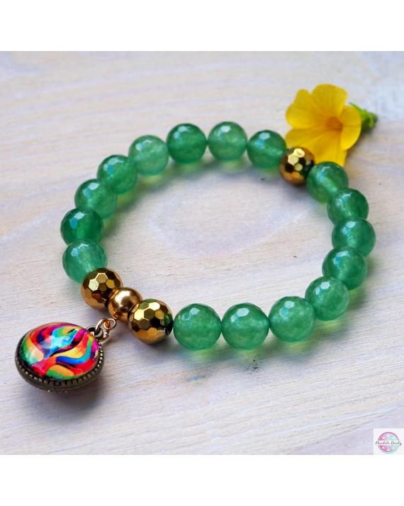 "Bracelet with mandala ""Transformation Tree""."