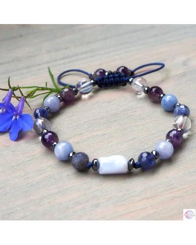 "Mineral bracelet ""Communication - Throat Chakra""."