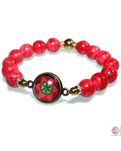 "Bracelet with mandala ""Grain of Life""."