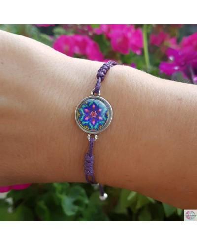 "Bracelet with mandala ""Heart Fulfillment"" agate."