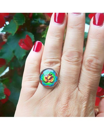 "Ring with mandala ""OM""."