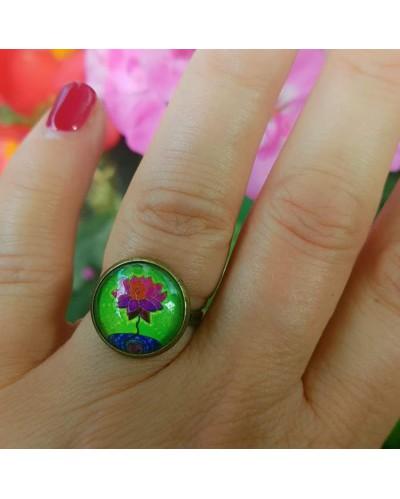 "Ring with a mandala  ""Lotus blooms""."