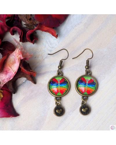 "Earrings with mandala ""Chakra-Transformation"" Sepia."