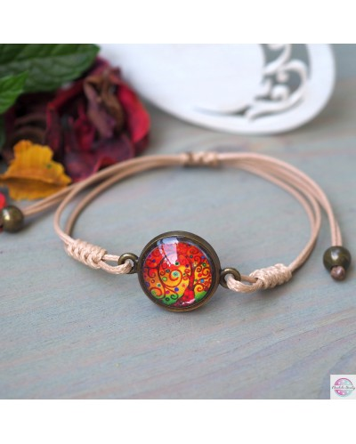 "Bracelet with mandala ""Tree of Gratitude"" jasper"