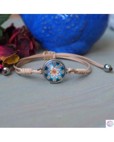 "Bracelet with mandala ""Calming""."