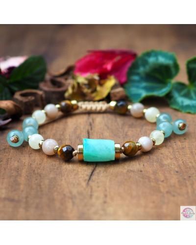 """Optimist"" mineral bracelet."
