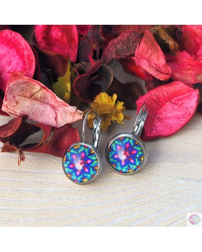"Earrings with mandala ""Fulfilling the heart""."