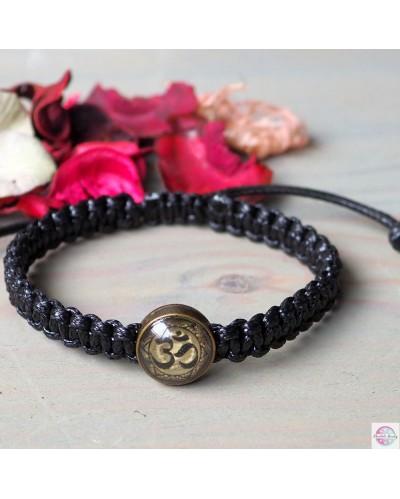 "Braided bracelet with mandala ""OM""."