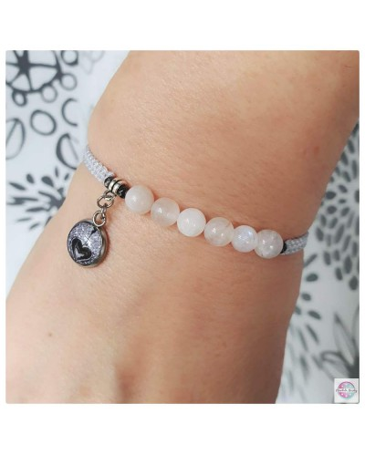 "SubtElle bracelet with mandala ""Angel Emitter Guardian"" with moonstone."