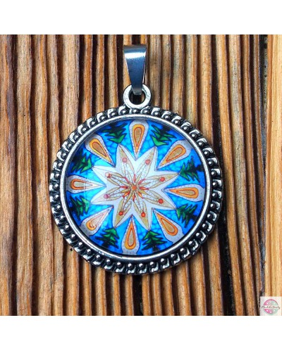 "Medallion with a ""Calming"" mandala."