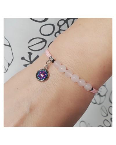 "SubtElle bracelet with the ""Fulfill the Heart"" mandala."