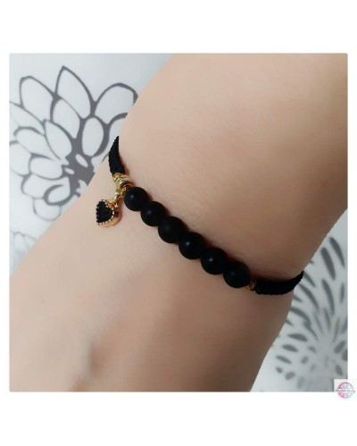 SubtElle bracelet with coral and heart.