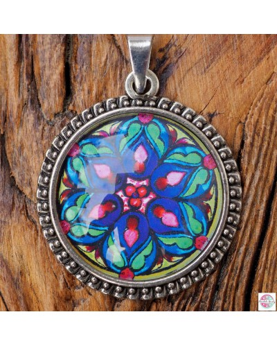 "Pendant with mandala ""Heart Fulfillment""."