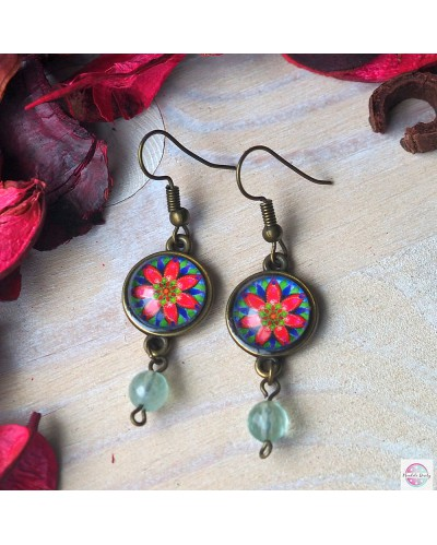"Earrings with mandala ""Delight""."